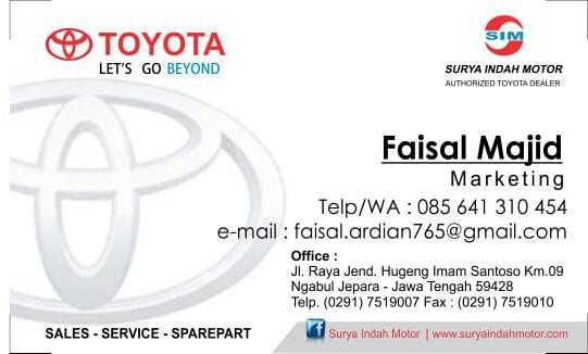 Identitas Sales Toyota Jepara Surya Indah Motor